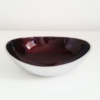Fairtrade Recycled Aluminium Large Round Bowl Chocolate Brown £15.00