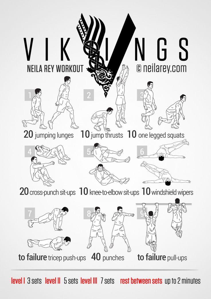 Vikings bodyweight exercises