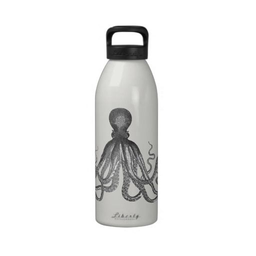 Kraken - Black Giant Octopus / Cthulu Water Bottles