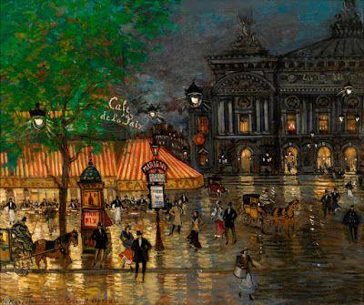 Konstantin Korovin, Plaza de la Ópera y café de la PaixKorovin
