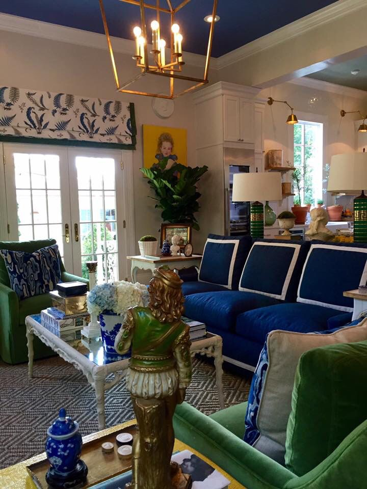 Parker kennedy living southern style now pkl interior for Southern style living room designs