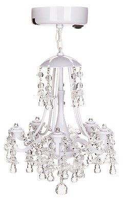 How cute is this White Beaded Locker Chandelier? Right now, you can get it for $18.99 on Amazon from $49.99.