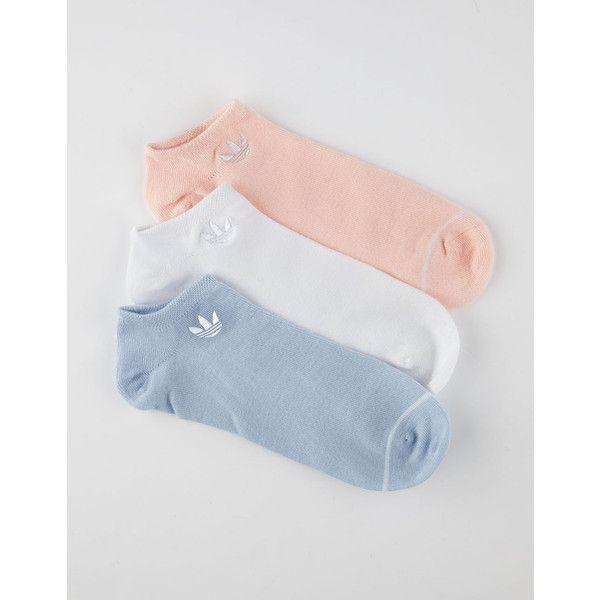 Adidas 3 Pack Superlite Womens No Show Socks ($15) ❤ liked on Polyvore featuring intimates, hosiery, socks, adidas, embroidered socks and adidas socks
