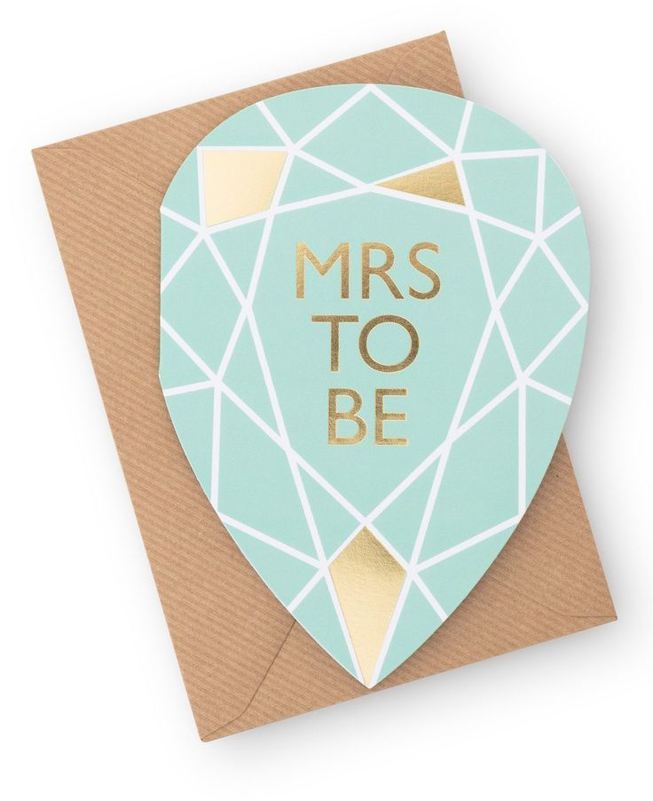 Mrs to Be Card from Oliver Bonas