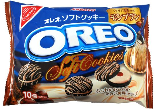 Nabisco Oreo Soft Cookies — Mont Blanc Cake $5.00 http://thingsfromjapan.net/nabisco-oreo-soft-cookies-mont-blanc-cake/ #Japanese oreo #Japanese snack #Japanese cookie