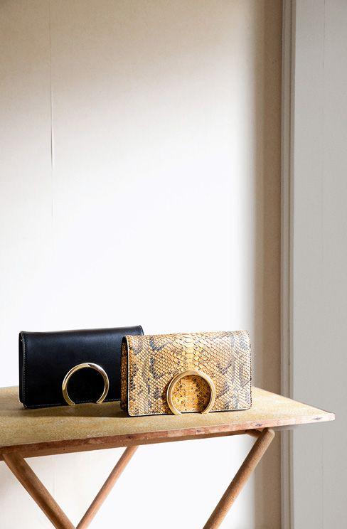 chlor bag replica - small georgia bag in smooth calfskin and nappa lambskin