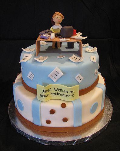Retirement Cake.  Perhaps for Mona.