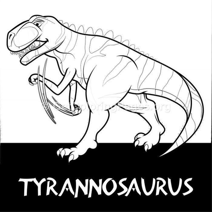 Free Instant Downloads Tyrannosaurus Cute Dinosaurs Coloring Pages Coloring Coloringbook Coloringpages Zentangle Dinosaur Dinosaurs Coloring Zentangle