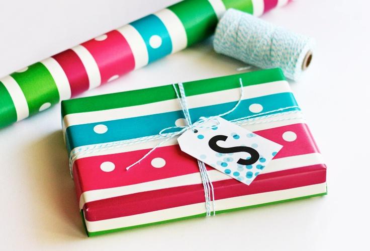 Printable monogram gift tags