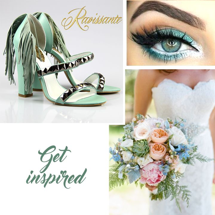 If you are a turquoise lover, you can choose it for your wedding. Also if you are a fashionista, you'll amaze with your unique shoes