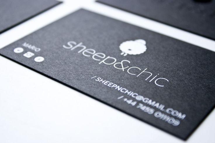 Business card design made for Ship&Chic. Black papaper with black foli hot-stamping & white screenprinting.