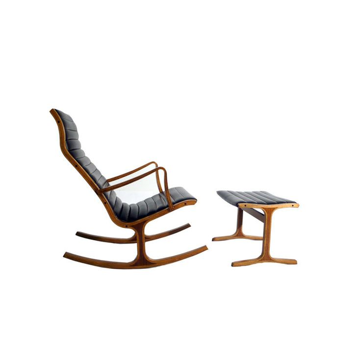 Heron Rocking Chair U0026 Ottoman By Mitsumasa Sigasawa