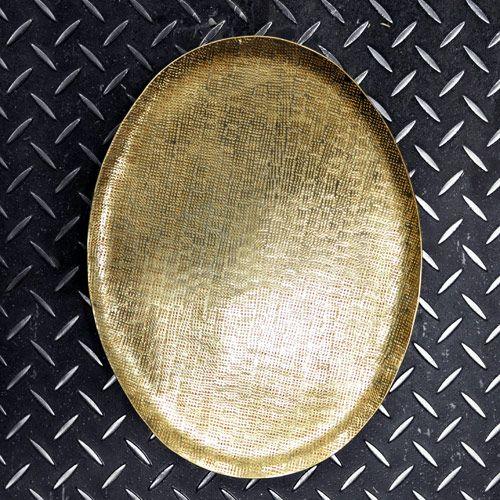 Plateau métal doré et reliefs martelés Donna XL Boom (2 tailles)