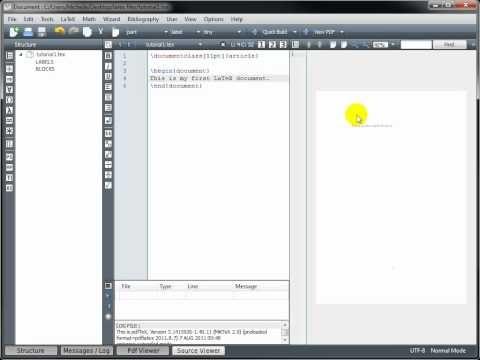 LaTeX Tutorial 1 - Creating a LaTeX Document - YouTube
