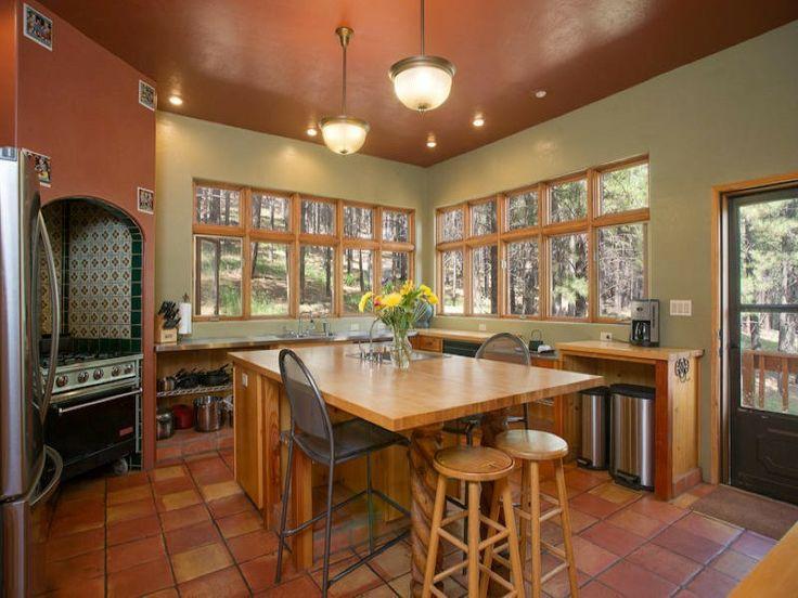 Terra Cotta Kitchen Floor | 5155 Hidden Hollow Rd, Flagstaff AZ, 86001 |  Homes