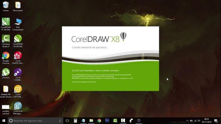 Como baixar, instalar e ativar o COREL DRAW X8 DEFINITIVAMENTE! 2017