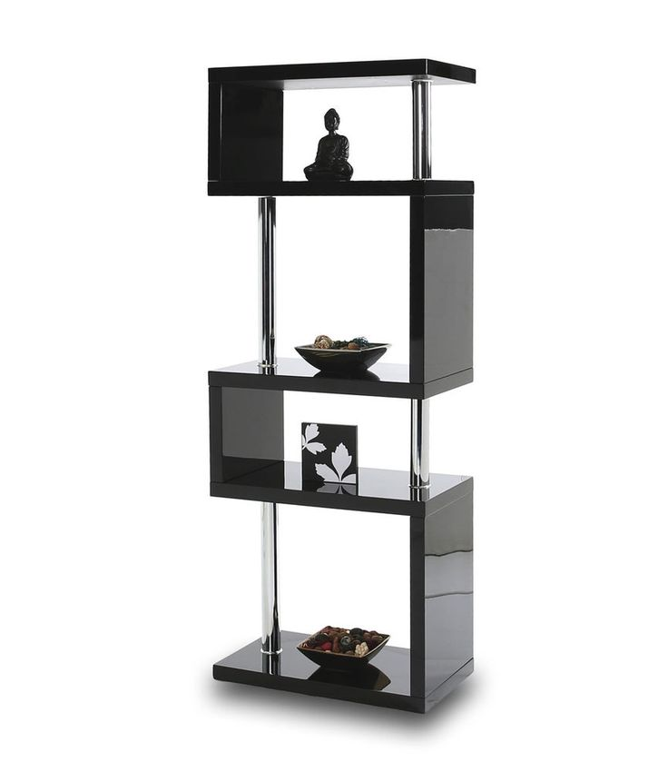 Miami High Gloss 5 Tier Shelving Unit Miami Exclusive Contemporary Designer 5 tier Stand Beautifully crafted high gloss finish 5 tier stand with chrome fixings. Available in different colours. Visit our store for more details:http://www.ebay.co.uk/itm/282057296685