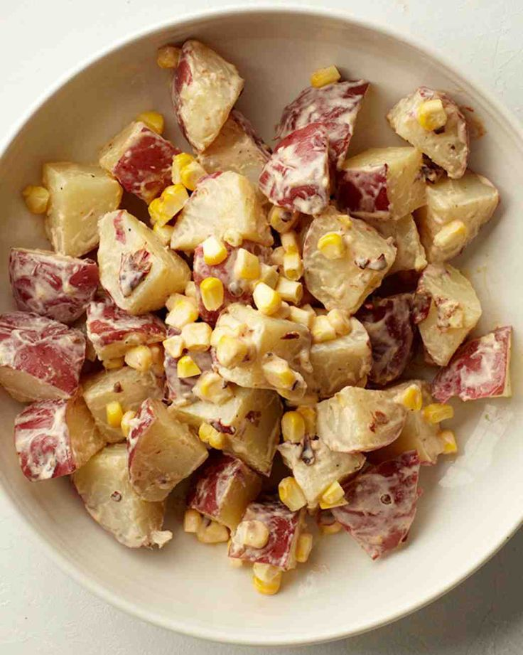 Mexican Potato Salad-this is crazy good.  Double the corn, add green onions, and sour cream.