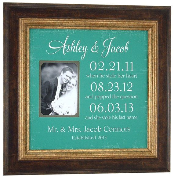 Important Dates Sign Mr Mrs Pas Wedding Gift By Photoframeoriginals