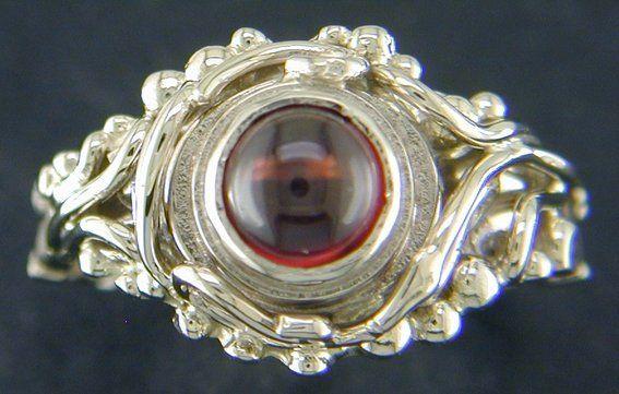 Custom Made Rhodolite Garnet & 14 Kw Gold Ring - Custom Designed And One Of A Kind