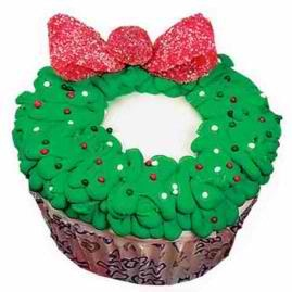 WreathsChristmas Wreaths, Christmas Baking, Wreaths Cupcakes, Christmas Cookies, Rewards Cupcakes, Cupcakes Quequitos, Cupcakes Cak, Christmas Ideas, Christmas Cupcakes