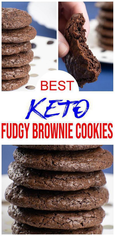 Best Keto Cookies Low Carb Keto Chocolate Fudge Brownie Cookies
