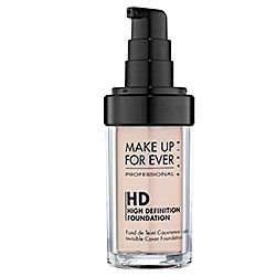MAKE UP FOR EVER - HD Invisible Cover Foundation in 115 Ivory - for light skin with pink undertones  #sephora