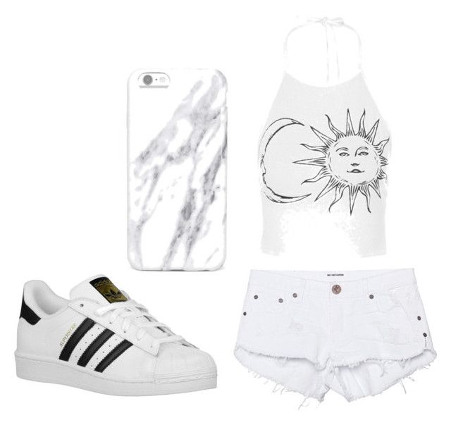 """""""Casual"""" by isabellamateus on Polyvore featuring One Teaspoon and adidas Originals"""