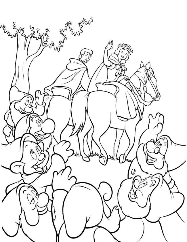 Disney Snow White Coloring Pages Book