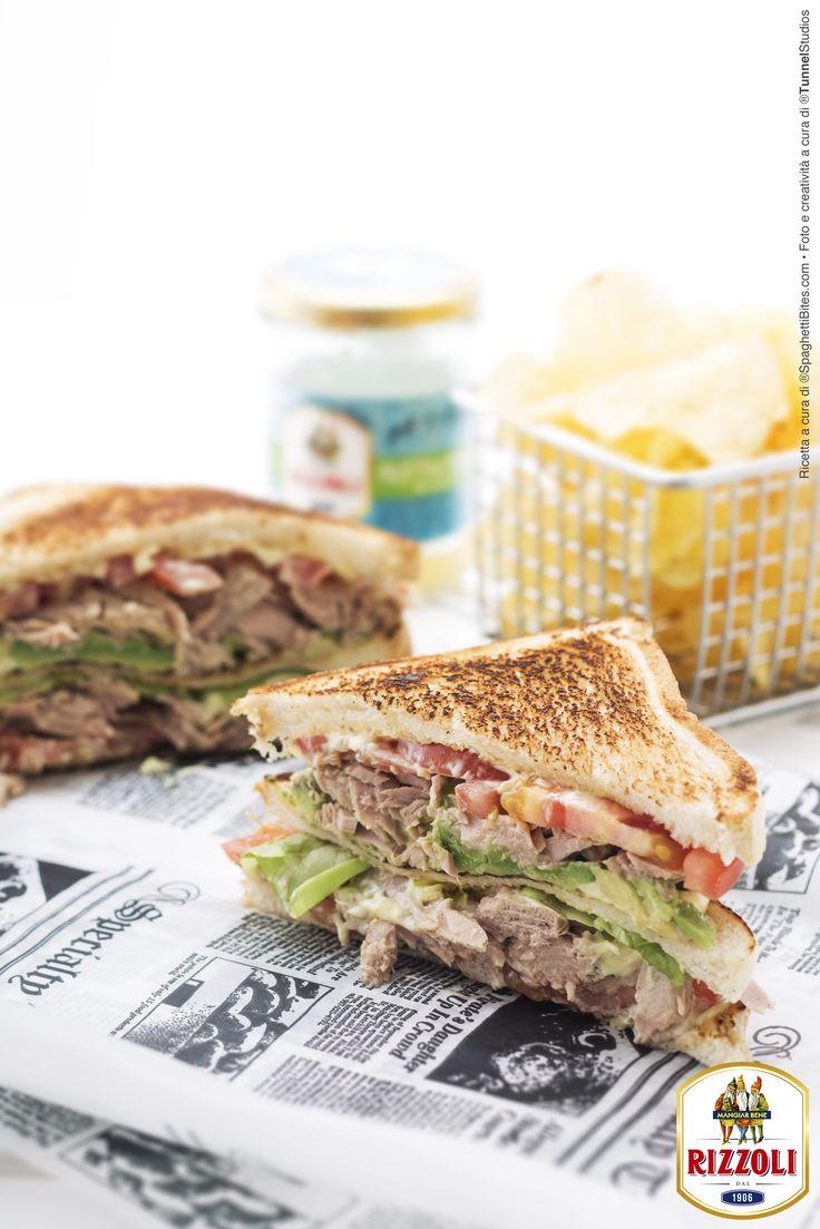 RIZZOLI-Ricetta club sandwich con tonno-www.spaghettibites.com