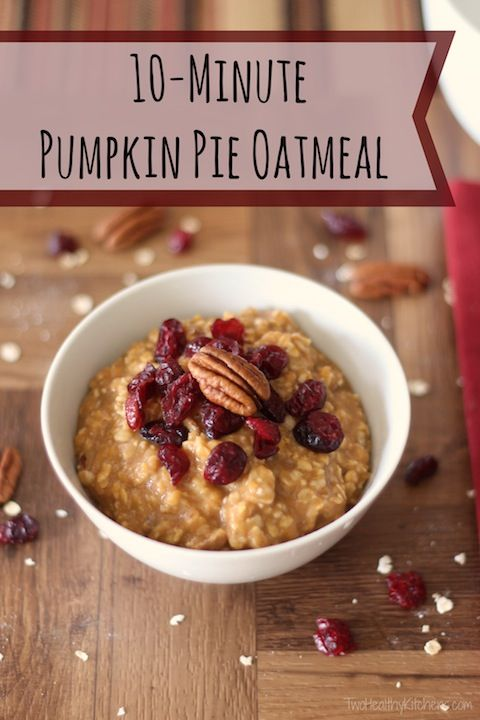Mmmmmm ... Pumpkin pie … in a super-delicious, satisfying breakfast! Quick and easy pumpkin oatmeal! A fall family favorite, and perfect for Thanksgiving morning!
