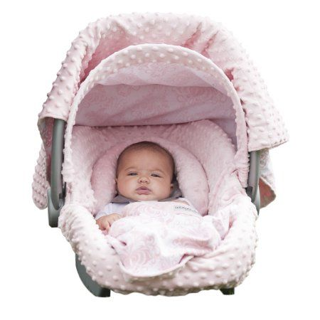 Carseat Canopy 5 pc Whole Caboodle Baby Car seat Cover set - Minky Angelina