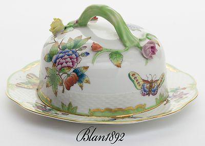RARE Antique Herend Queen Victoria Butter Dish 1946   eBay