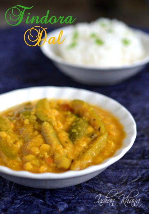 Easy, Quick, Vegan and healthy Tindora (Ivy Gourd) Chana Dal