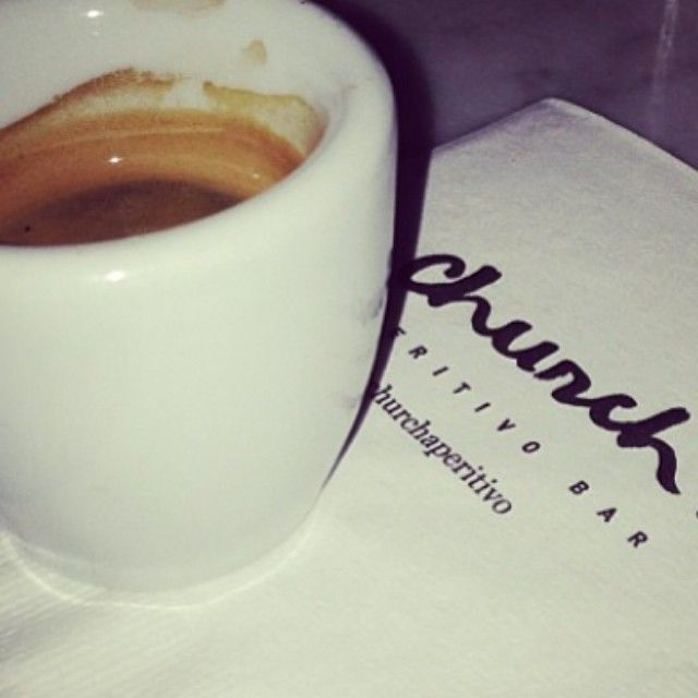 Have you had your morning coffee? - Church Aperitivo Bar #Toronto #QueenWest