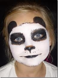 Panda facepaint - Brooklynn halloween