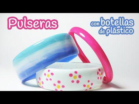3 pulseras DIY con botellas de plástico recicladas | Manualidades