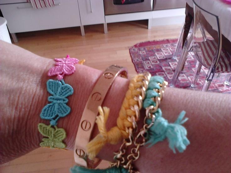 Cruciani butterfly bracelet.