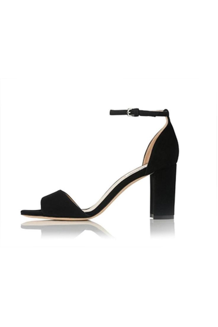 Set on a practical block heel and boasting a minimalist design, Helena makes for a versatile new-season shoe. Featuring two sleek straps, this classic black suede style is finished with a silver buckle. Slip on a pair of boyfriend jeans and a slouchy tee for weekend outfitting, or party dresses when cocktail hour calls.    Heel Height: 2.8in   Helena Black Suede by LK BENNETT. Shoes - Pumps & Heels - Open Toe Alexandria, Virginia