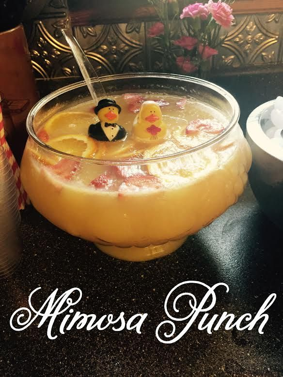 I have recently been obsessed with Mimosas lately. I have done the mimosa bar and wanted to try something different for my brunch bridal sho...