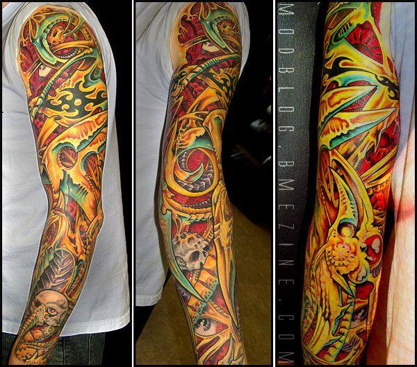 Aaron cain tattoo biomechanical tattoo pinterest for Aaron cain tattoo