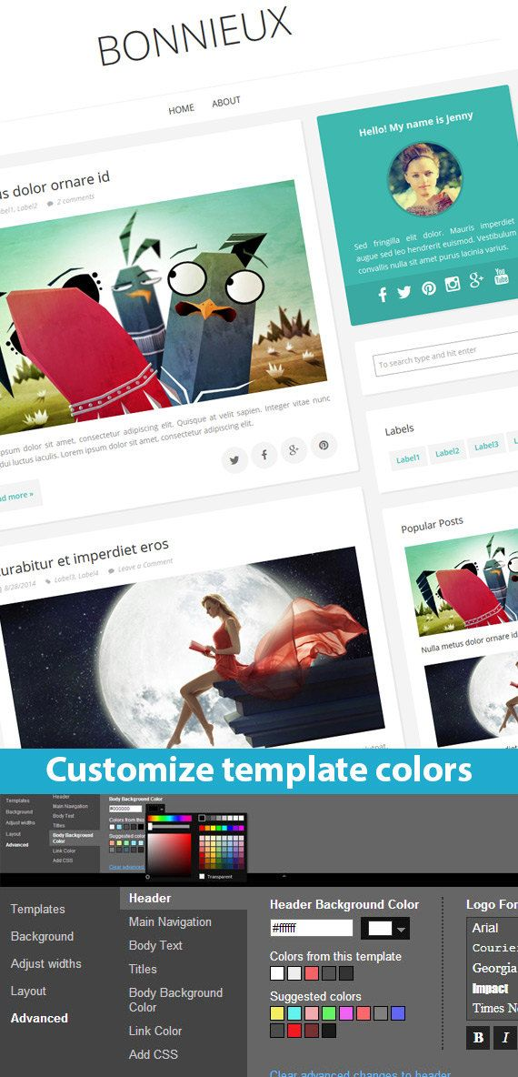 Etsy Blogger Template called Bonnieux by BloggerTemplate