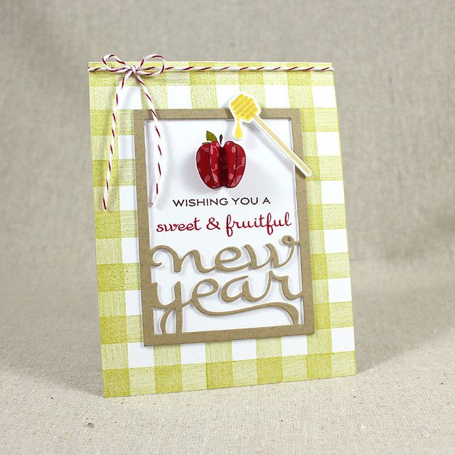 New Year Card by Lizzie Jones for Papertrey Ink (July 2015)