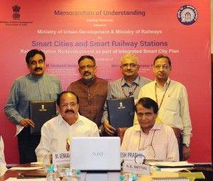 India News Today : Suresh Prabhu, Venkaiah Naidu sign MoU to revamp Railway Stations