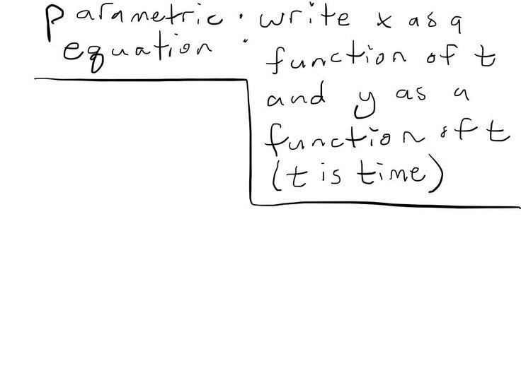 Vectors and parametric equations
