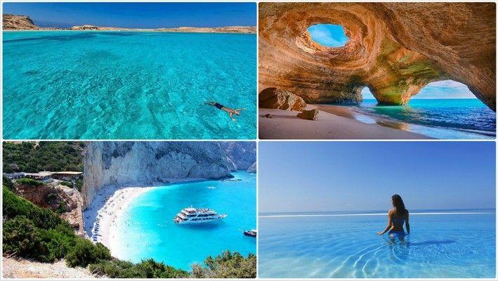 Helderste water te zwemmen in Griekenland