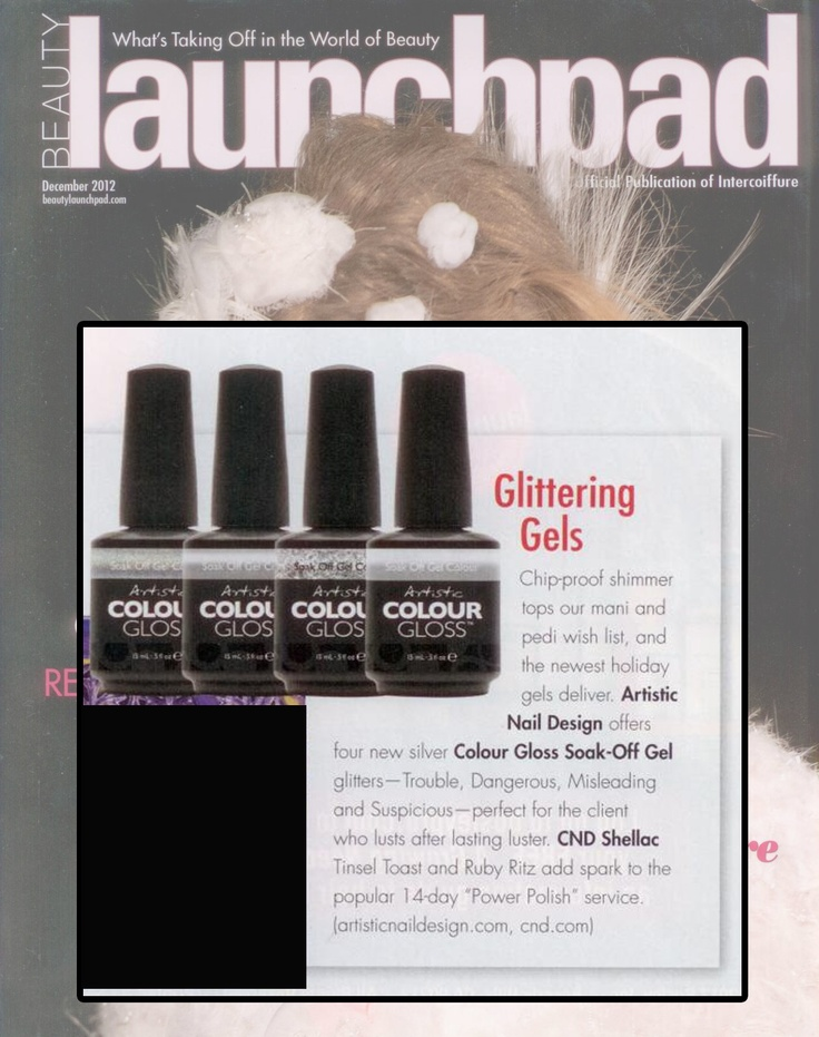 """Artistic Nail Design """"What Kind of Woman Are You?"""" 2012 Holiday Collection featured inside the December 2012 issue of Beauty Launchpad Magazine."""