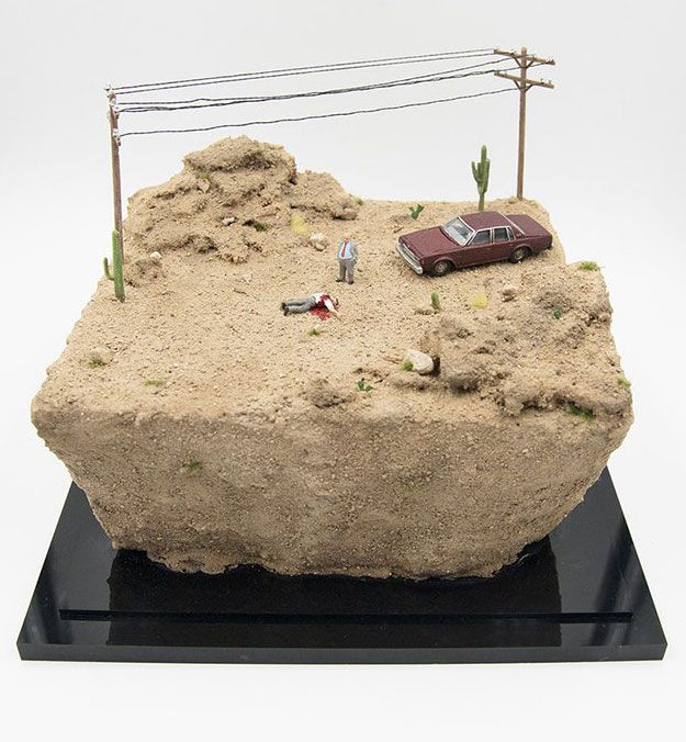 Die-O-Ramas: Miniatures of Crime Scenes Created by Abigail Goldman
