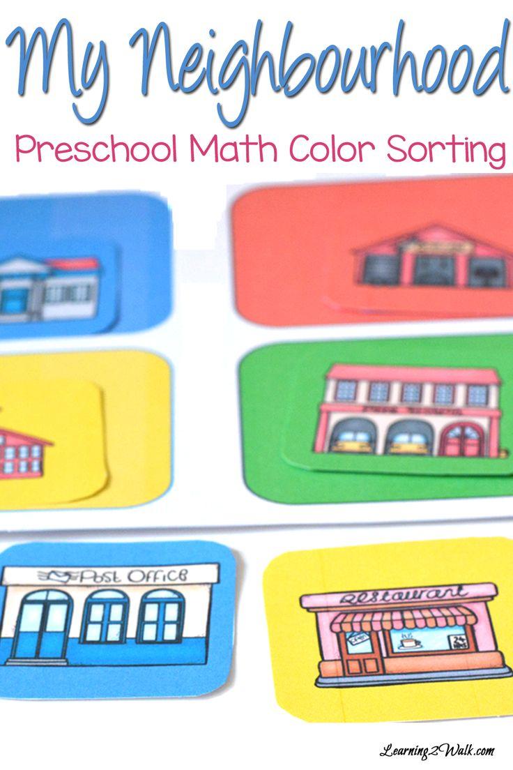 Co Color In Cars Activity - My neighbourhood preschool math color sorting