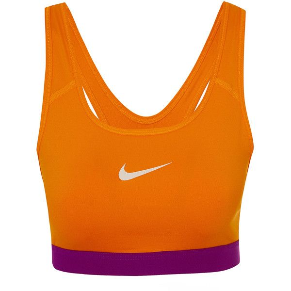 b5904bfd2f Nike Orange Pro Classic Sports Bra ( 37) ❤ liked on Polyvore featuring  activewear